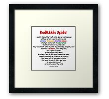 Red Bubble Spider Framed Print