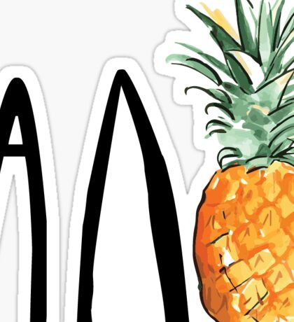 adpi pineapple Sticker