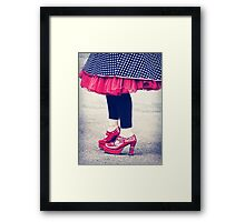 the ruby shoes Framed Print