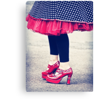 the ruby shoes Canvas Print