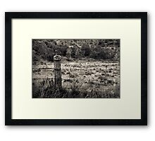 I alone shall carry your burden Framed Print