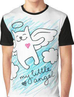 hand drawn cat angel Graphic T-Shirt