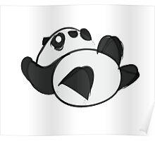 Tumbling Panda Bear Poster