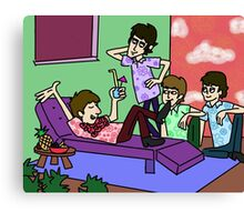 THE BEATLES ON VACATION Canvas Print