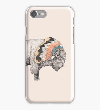 White Bison iPhone Case/Skin
