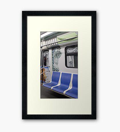 subway train in St. Petersburg Framed Print
