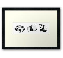 Tumbling Panda Bears (SET) Framed Print