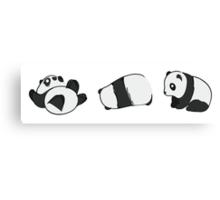 Tumbling Panda Bears (SET) Canvas Print