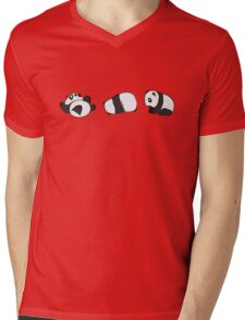 Tumbling Panda Bears (SET) Mens V-Neck T-Shirt