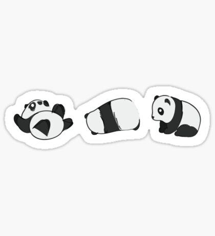 Tumbling Panda Bears (SET) Sticker
