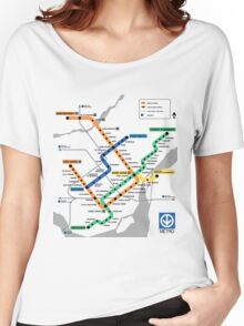 STM Montreal Metro - light background Women's Relaxed Fit T-Shirt