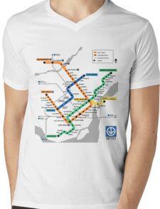 STM Montreal Metro - light background Mens V-Neck T-Shirt