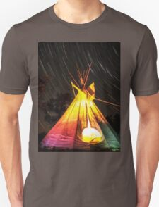 Star Trails Over My Tipi Unisex T-Shirt