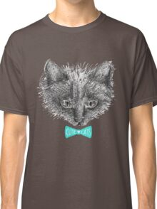 black cat face sketch Classic T-Shirt