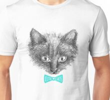 black cat face sketch Unisex T-Shirt