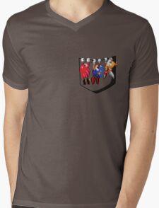 Pocket Sonic Mens V-Neck T-Shirt