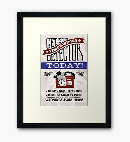The Timey-Wimey Detector Framed Print