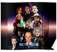 Dr.Who 50th Anniversary Duvet Cover  Poster