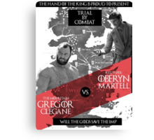 Will the gods save the imp? Canvas Print