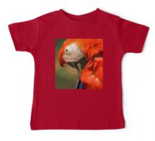 Red Parrot, the Scarlet Macaw – portrait Baby Tee