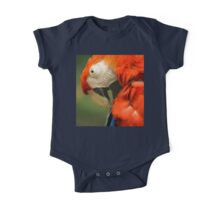 Red Parrot, the Scarlet Macaw – portrait One Piece - Short Sleeve