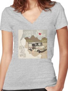 kendrik lamar poetic justice Women's Fitted V-Neck T-Shirt