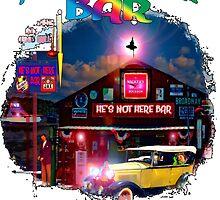 He's Not Here Bar Shirt by Mike Pesseackey (crimsontideguy)