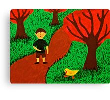 Ethan and the Duck Canvas Print