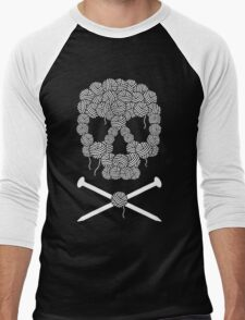KNITTERS sugar skull Men's Baseball ¾ T-Shirt