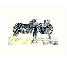The two of us Art Print