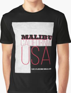 MALIBU California USA Graphic T-Shirt