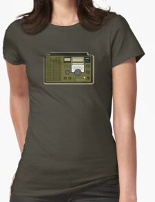 Retro Radio (National Panasonic DR22) Womens Fitted T-Shirt