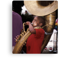 Musician: New Orleans Canvas Print