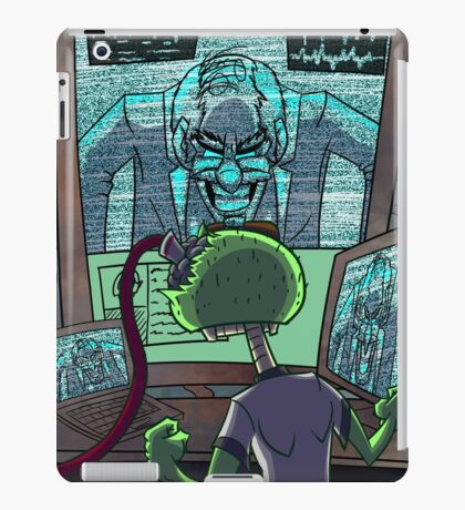 Mad Scientist Trapping Zomboy iPad Case/Skin