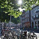 Bikes in Dublin city center by Tomasz-Olejnik