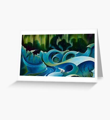 Free Floe Horizon Detail Greeting Card