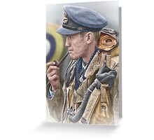 RAF Spitfire Pilot Greeting Card