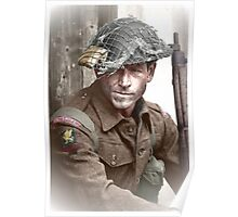 British Soldier WW2 Poster