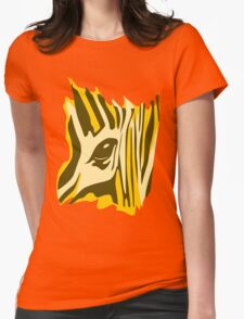 Animal skin Zebra Womens Fitted T-Shirt