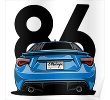 GT86 (blue) Poster