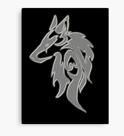 Wolfpack Silver Canvas Print