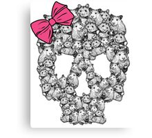 Hamster Sugar Skull Canvas Print