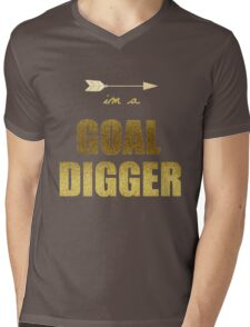 Goal Digger Mens V-Neck T-Shirt