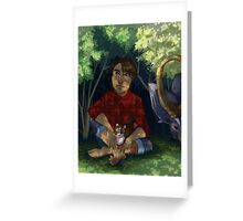 Link is still a Farm Kid Greeting Card