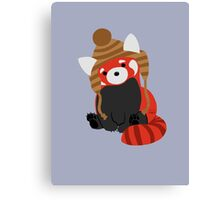 Collin the Beanie-Wearing Red Panda Canvas Print