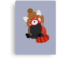 Collin the Beanie-Wearing Red Panda Canvas Print
