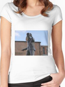 Billy Fury Statue Liverpool. Women's Fitted Scoop T-Shirt