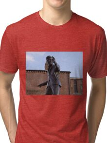 Billy Fury Statue Liverpool. Tri-blend T-Shirt