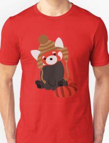 Collin the Beanie-Wearing Red Panda Unisex T-Shirt
