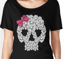 Poodle Sugar Skull Women's Relaxed Fit T-Shirt